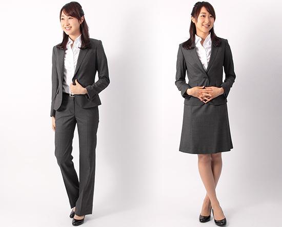 就活スーツ-チャコール