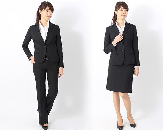 就活スーツ黒