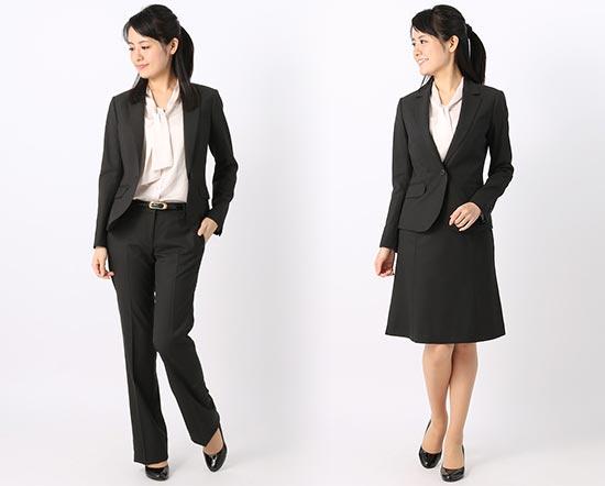 就活スーツ-ブラックストライプ