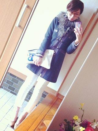 フェラガモ靴コーデ5