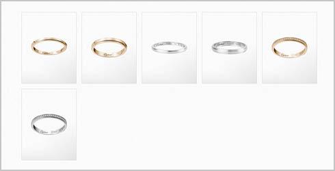 カルティエダムール-結婚指輪
