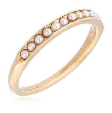 アガットパール指輪2