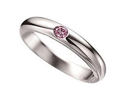 ピンク・ダイヤモンド・マリッジリング