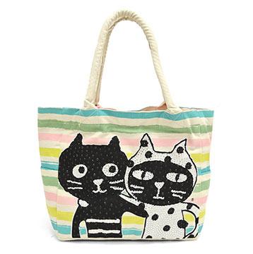 ララキューブ猫トートバッグ