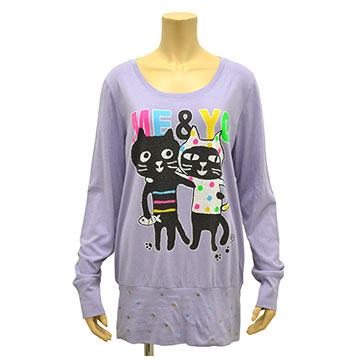 ララキューブ猫Tシャツ