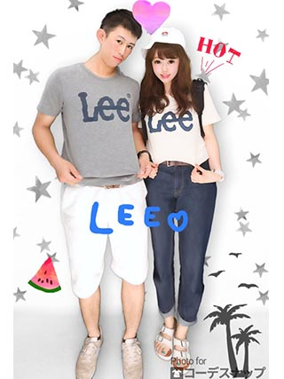 leeペアTシャツコーデ3