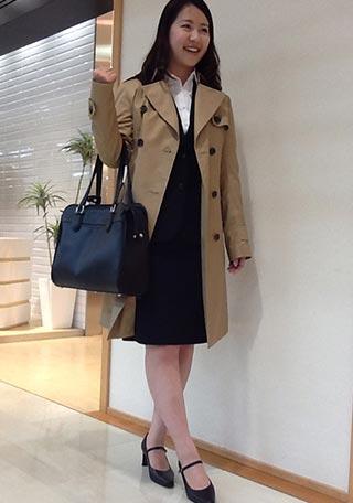 女性リクルートスーツコーデ-スカート7