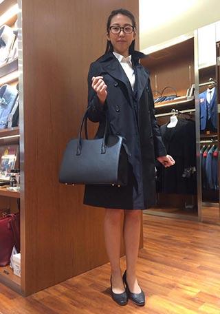 女性リクルートスーツコーデ-スカート4