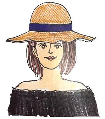 面長帽子2