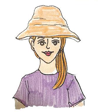 逆三角形帽子1
