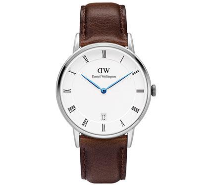 レザーベルト腕時計ブラウン2