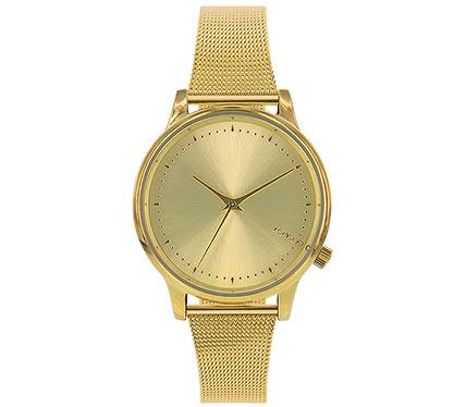 メタルブレス腕時計ゴールド3