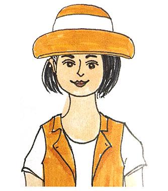 丸顔帽子2