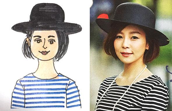 丸顔帽子1
