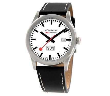 レザーベルト腕時計ブラック1