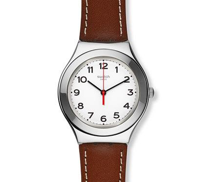 レザーベルト腕時計ブラウン3