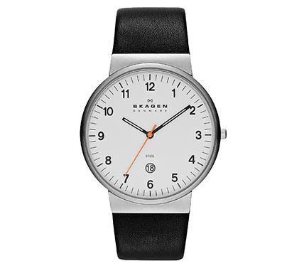 レザーベルト腕時計ブラック2