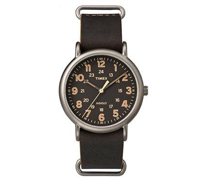 レザーベルト腕時計ブラック3
