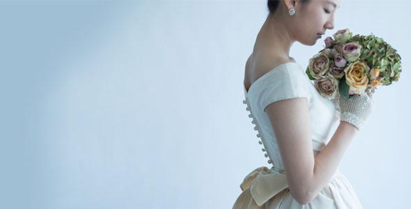 大人花嫁ウエディングドレス