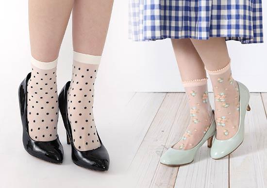 こんな可愛い靴下が揃っています♥