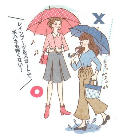 雨の日はスカート