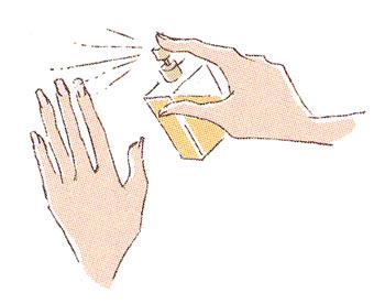 香水 指先につける
