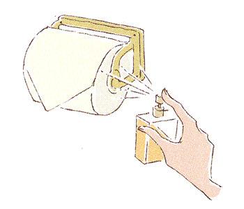 香水 トイレットペーパーにつける
