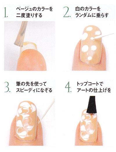 ネイル マーブルの塗り方