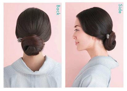 大人 ゆかた髪型 ロング2