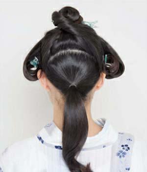 ゆかた髪型 ロング セット