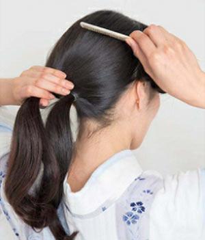 ゆかた髪型 ロング セット2