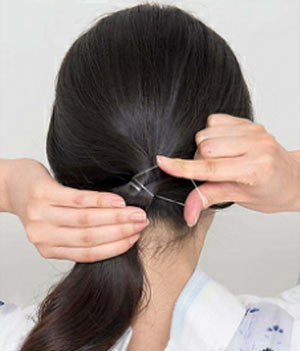 ゆかた髪型 ロング セット3