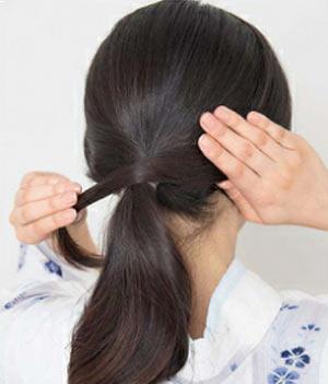 ゆかた髪型 ロング セット5