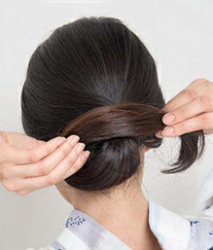 ゆかた髪型 ロング セット6