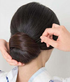 ゆかた髪型 ロング セット7
