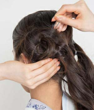 ゆかたヘアスタイル ロング セット5
