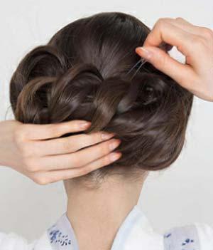 ゆかたヘアスタイル ロング セット7