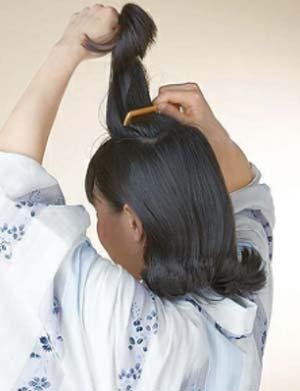 大人 ゆかた髪型 ミディアム セット