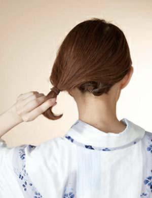 ゆかた髪型 ボブ セット3