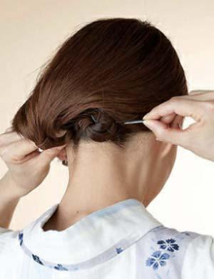 ゆかた髪型 ボブ セット4