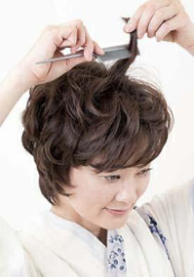 大人ゆかたヘアスタイル ショート セット2