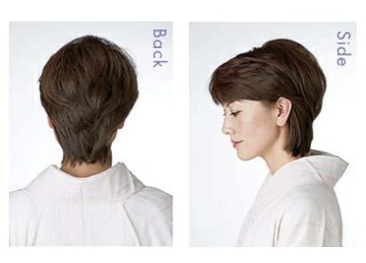 大人ゆかた髪型 ショート2