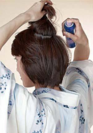 大人ゆかた髪型 ショート セット2