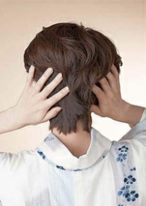 大人ゆかた髪型 ショート セット3