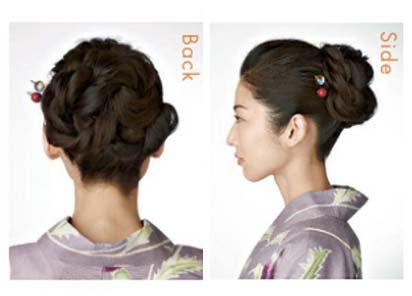 浴衣ロング髪型2