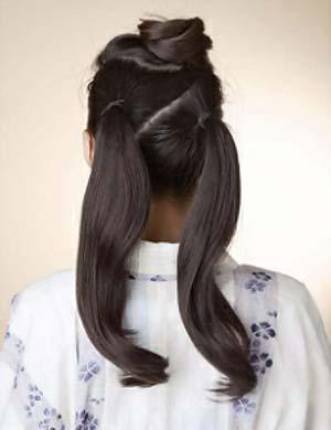 浴衣ロング髪型 セット