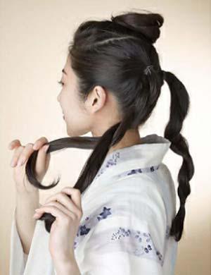 浴衣ロング髪型 セット2