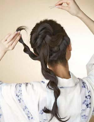 浴衣ロング髪型 セット5