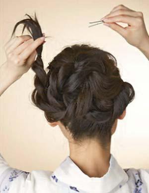 浴衣ロング髪型 セット6