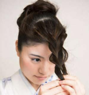 ゆかたヘアスタイル ロング セット3